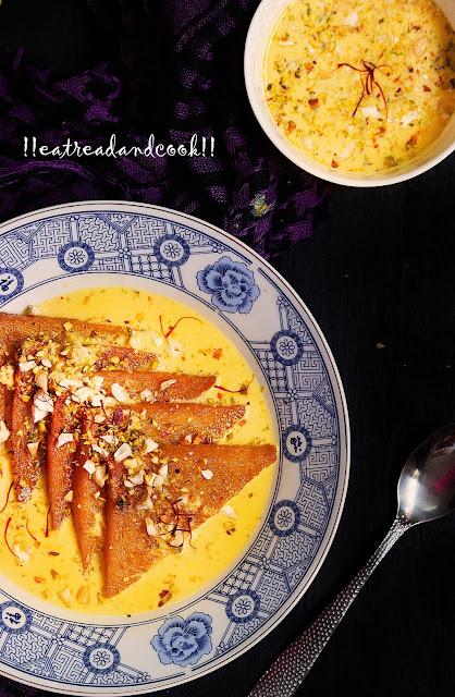 shahi tukra indian bread pudding indian sweet recipe