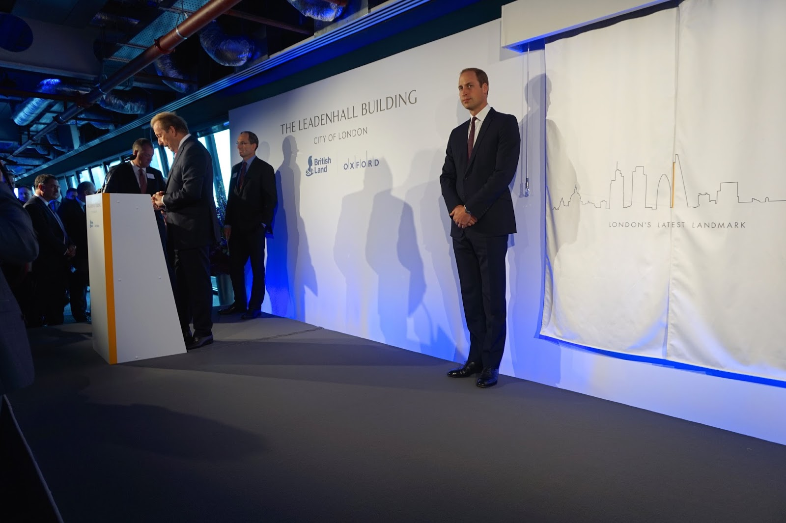 Prince William Prince Harry Officially open cheesegrater building london