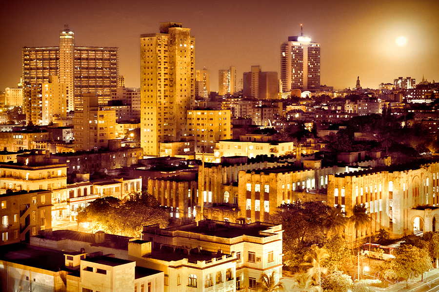 Havana, Cuba on moonlit night with OnOne Perfect Effects