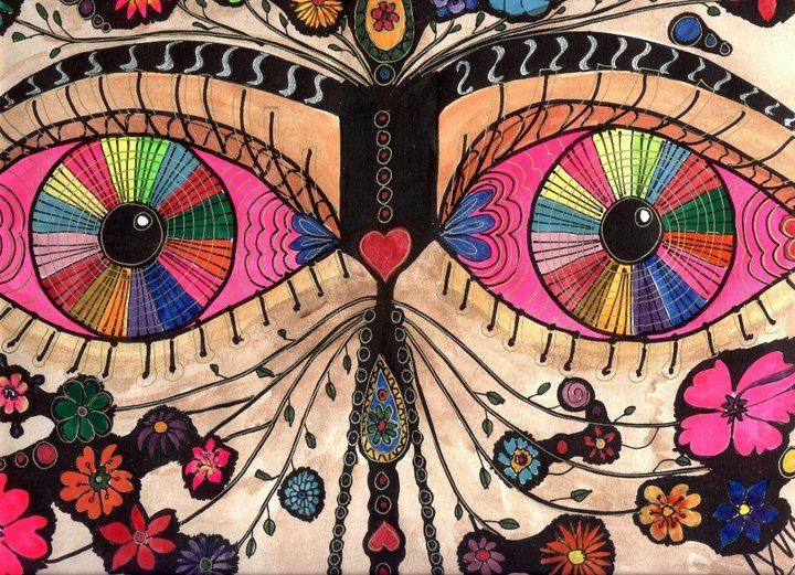 Fantástico Colorear Hippie Psicodélico Elaboración - Páginas Para ...