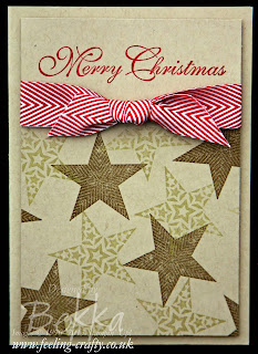 Fast and Fabulous Christmas Card using Stampin' Up!'s Simply Stars Stamps