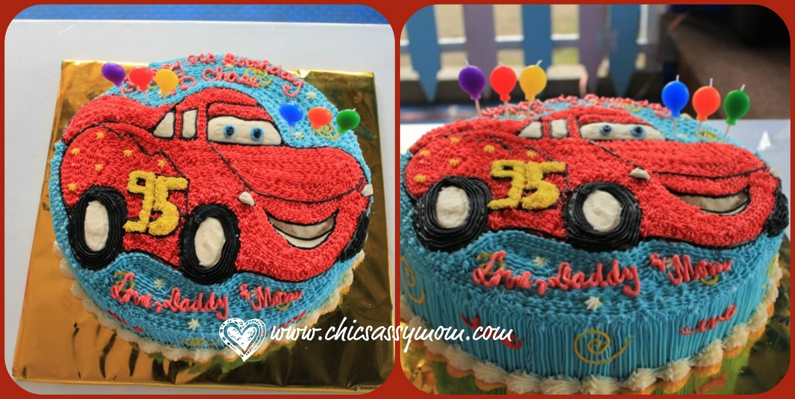 Disney Cars  Theme School Birthday Party - Birthday cake cars 2
