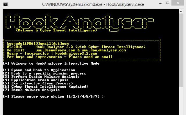 Hook Analyser 3.2 - Malware Analysis Tool