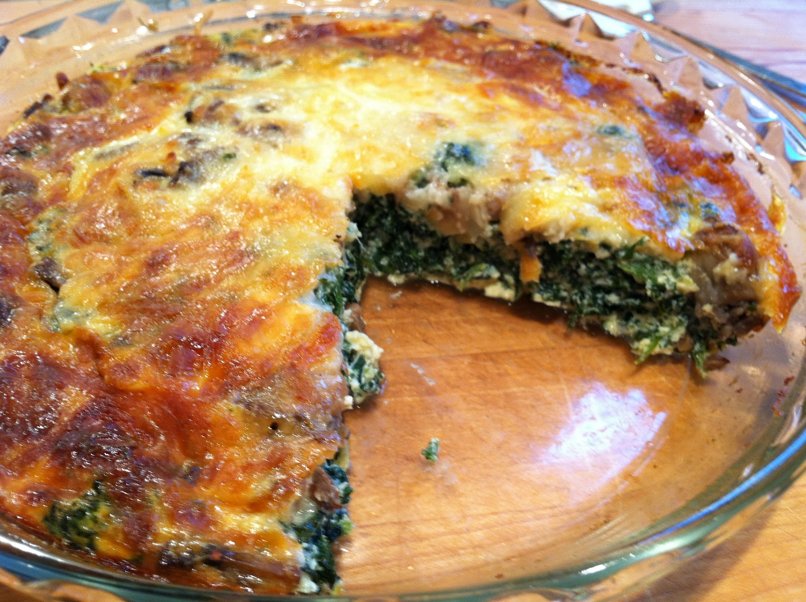 ... Tasty from My Kitchen: Spinach and Mushroom Crustless Quiche