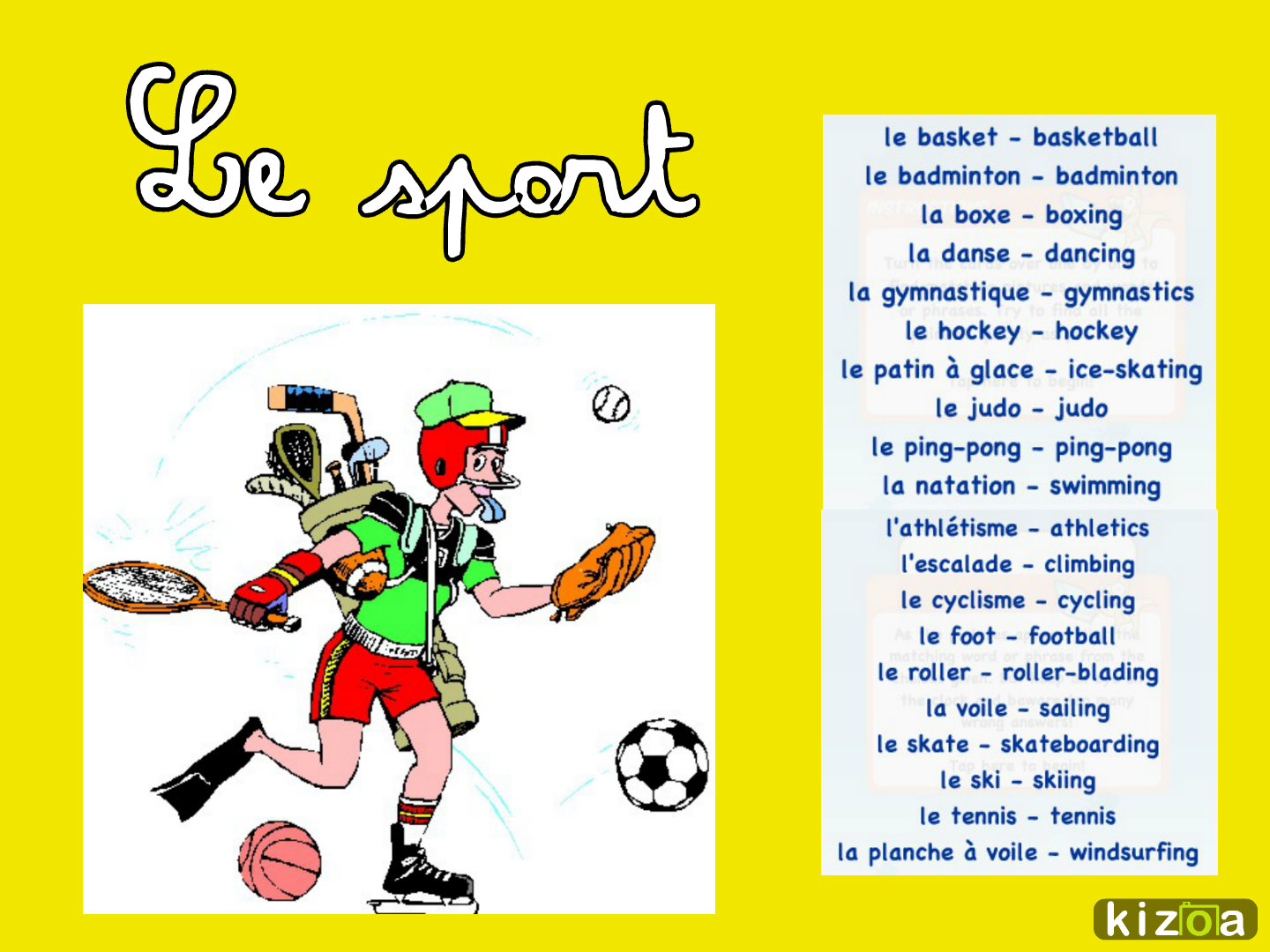 What is a general French opinion of sport and what are popular sports in France?