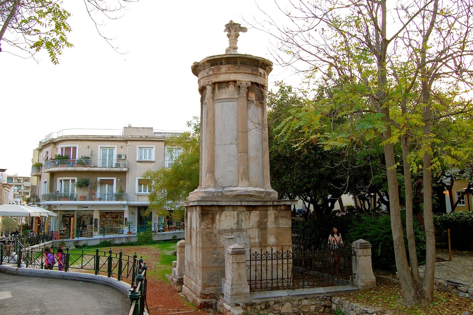 Lysicrates Monument in its small garden