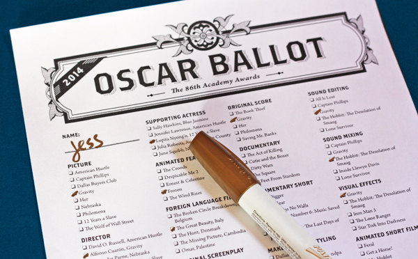 Unusual image pertaining to printable oscar ballots
