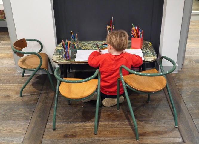 Henry colouring at Couverture and the Garbstore