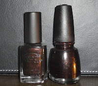 color club with abandon comparison with midtown magic china glaze nail polish