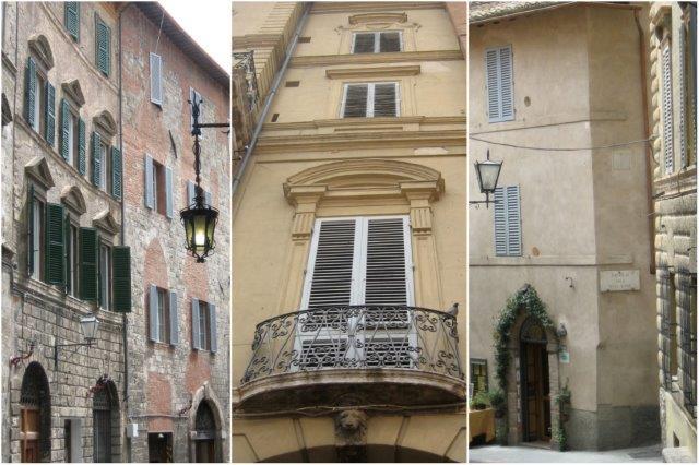 Calles y arquitectura típica de Siena