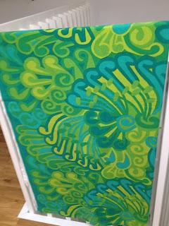 grönt retro tyg lata pigan 60-tal 70-tal