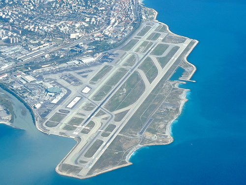 To me, just landing or departing from Nice's airport is a visually beautiful ...