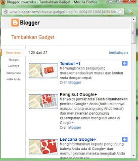 Cara Memasang Widget atau Gadget Di Blogspot