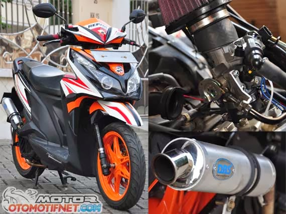 Modifikasi Honda Vario Techno 125 : Honda vario techno bore up