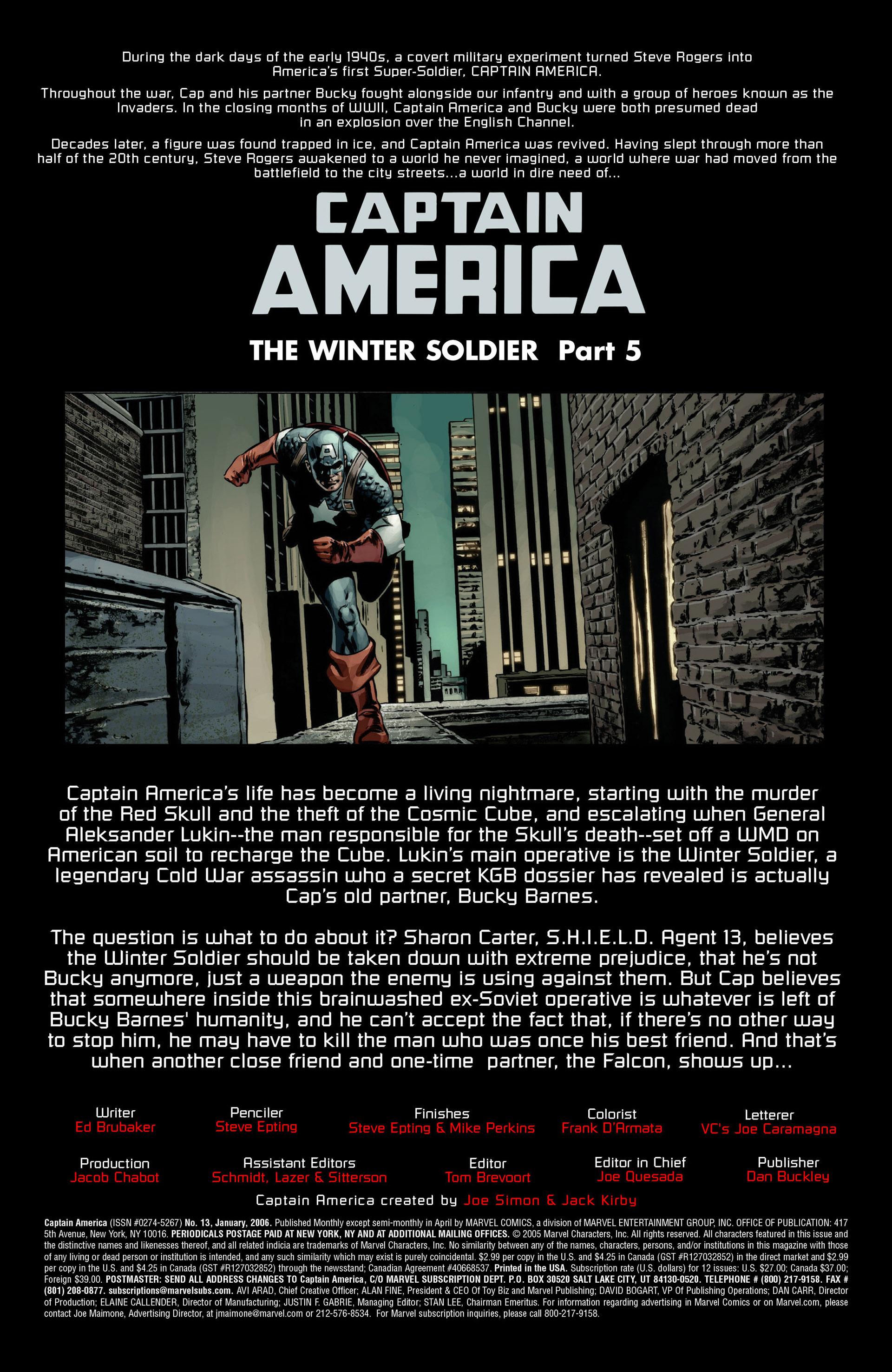Captain America (2005) Issue #13 #13 - English 3