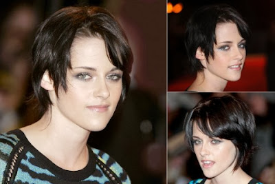 Kristen Stewart short haircut with bangs
