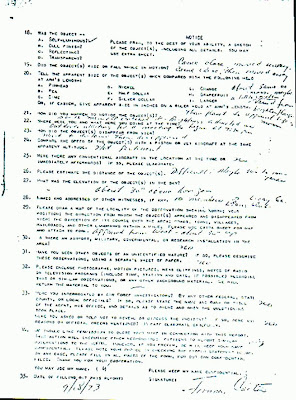 Jimmy CarterUFO Sighting Report (pg 2 of 2)  9-18-1973