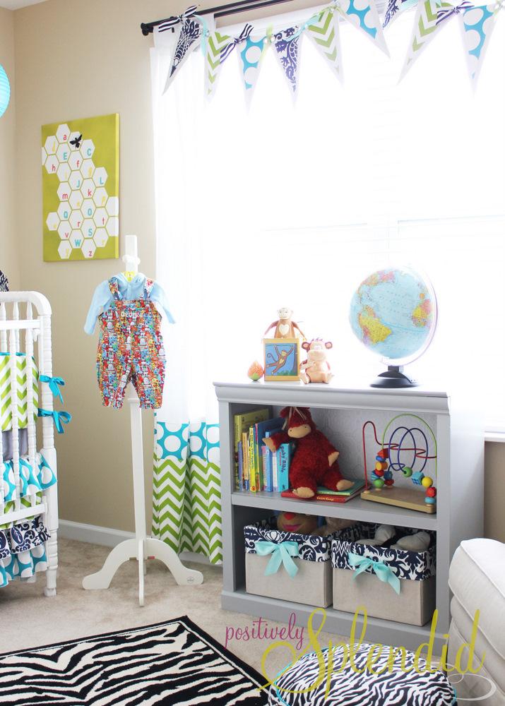 Diy Wall Art For Boy Nursery : Baby boy nursery tour positively splendid crafts