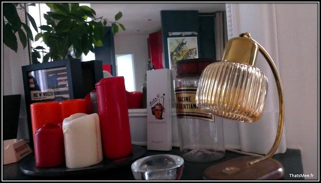 déco style loft 40m² meuble métier tiroir table Etsy 70s fauteuil club brocante bougie, lampe cuivre Etsy