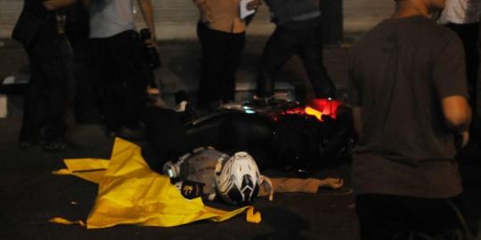 foto penembakan Bripka Sukardi di depan KPK