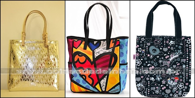 bolsa tote sacola ecobag michael kors mk romero brito plush poison