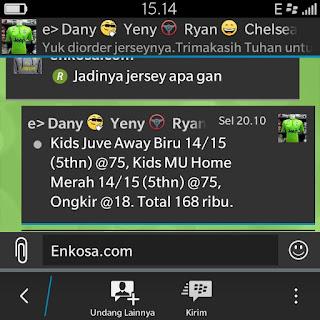 Daftar pesanan jersey Dany Santoso di enkosa sport