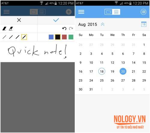 Có thể viết ghi chú, lịch làm việc bằng s - pen trên galaxy note 5