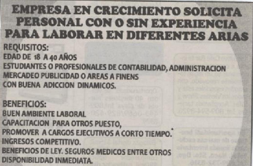 Anuncios de empleo en espaa clasificados de trabajo for Anuncios clasificados gratis