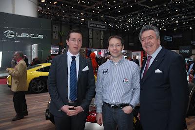 Salon de l'auto de Genève 2013: Alois Ruf, son fils, Fabrice Dauxere