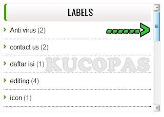 Cara Membuat Dan Memasang Scroll Pada Label Kategori Blog