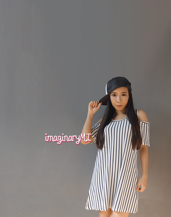 dress link cut out stripe dress fashion blogger Indonesia