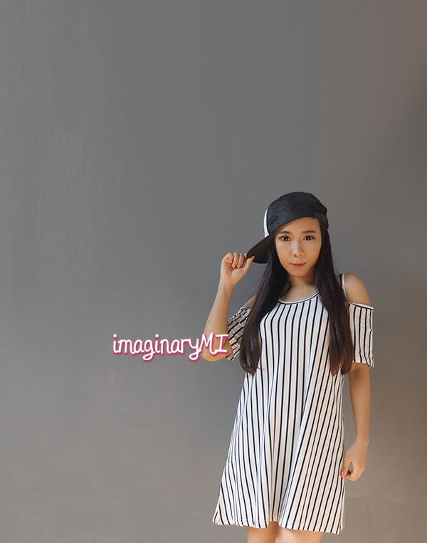 dress link cut out stripe dress fashion blogger Indonesia