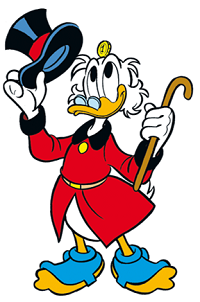 A picture of Scrooge McDuck.