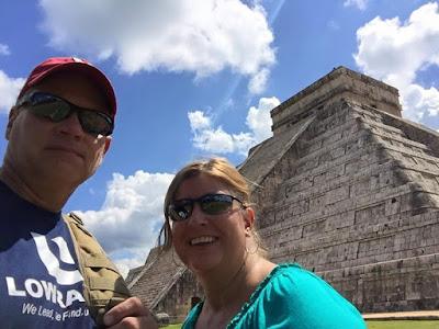 Selfie at Chichen Itza.