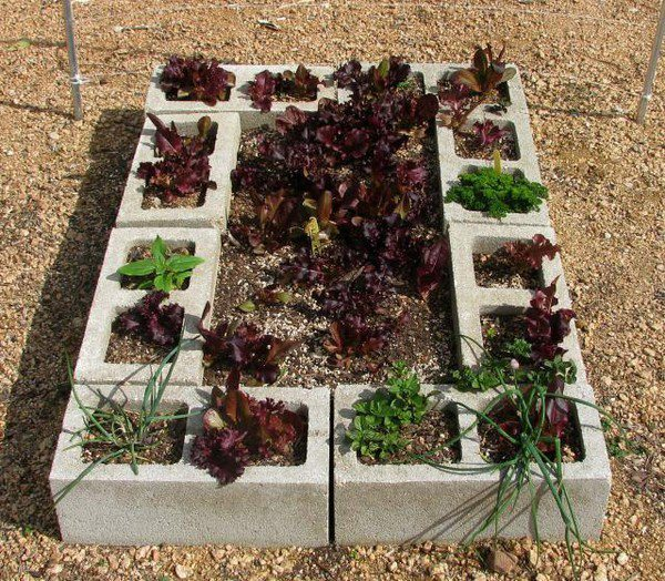 jardim bloco de concreto