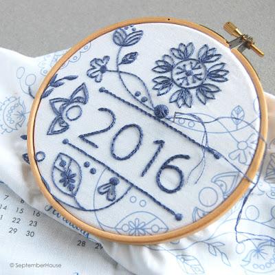2016 Modern Floral Fabric Calendar