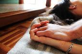 Cada pedazo de los días que paso, me sostiene la vida bien cogida a tu mano.