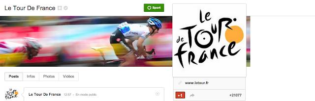 Page Google + du Tour de France