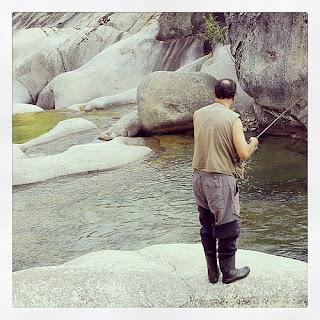 Pesca de trucha en el Valle del Jerte