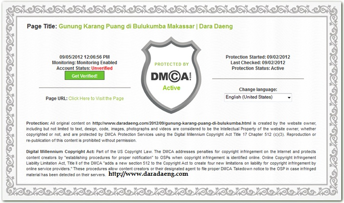 Totorial memasang widget DCMA Protection