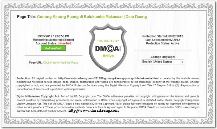 Totorial memasang widget DCMA Protection