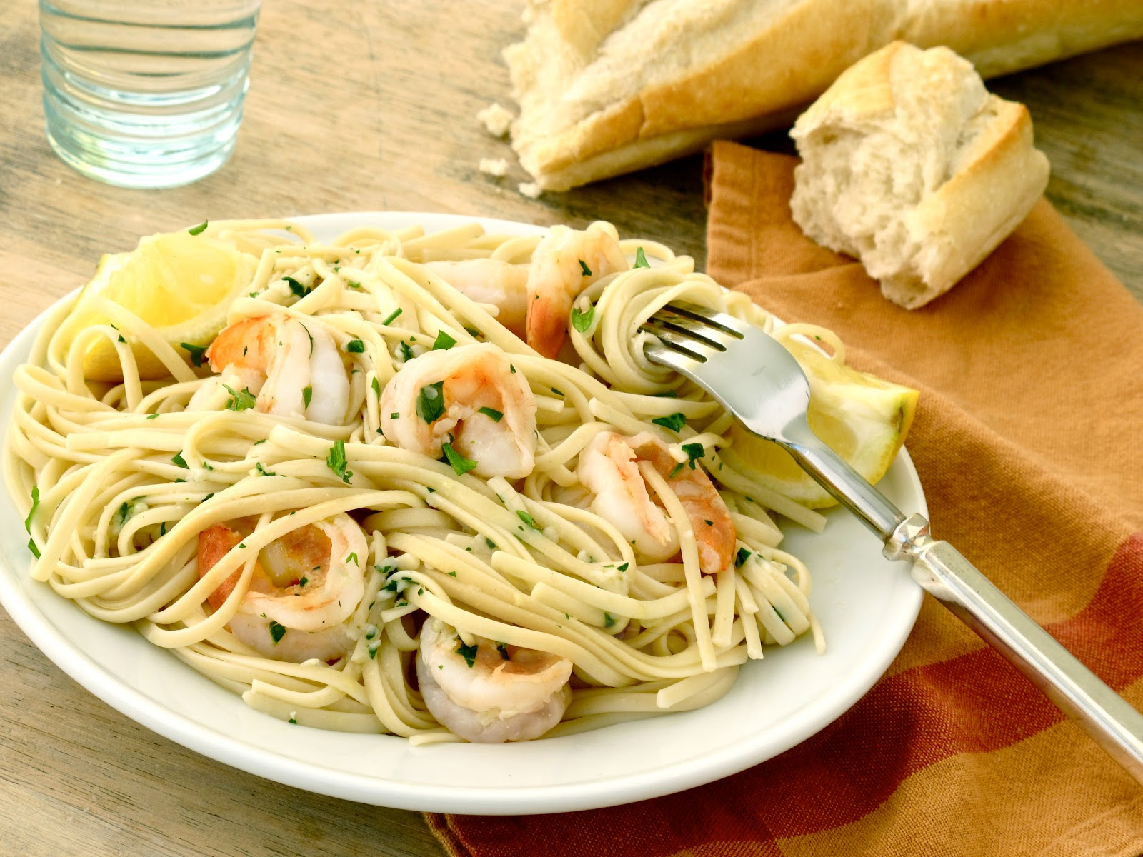 shrimp scampi lemon garlic linguine with sautéed shrimp quick pasta ...