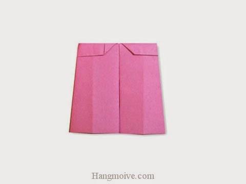Cách gấp, xếp quần ống bằng giấy origami - Video hướng dẫn xếp hình quần áo - How to fold a Culottes