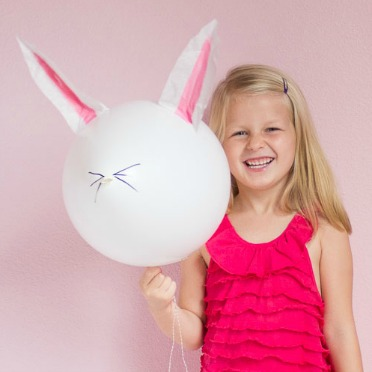 The sweetest bunny balloons!