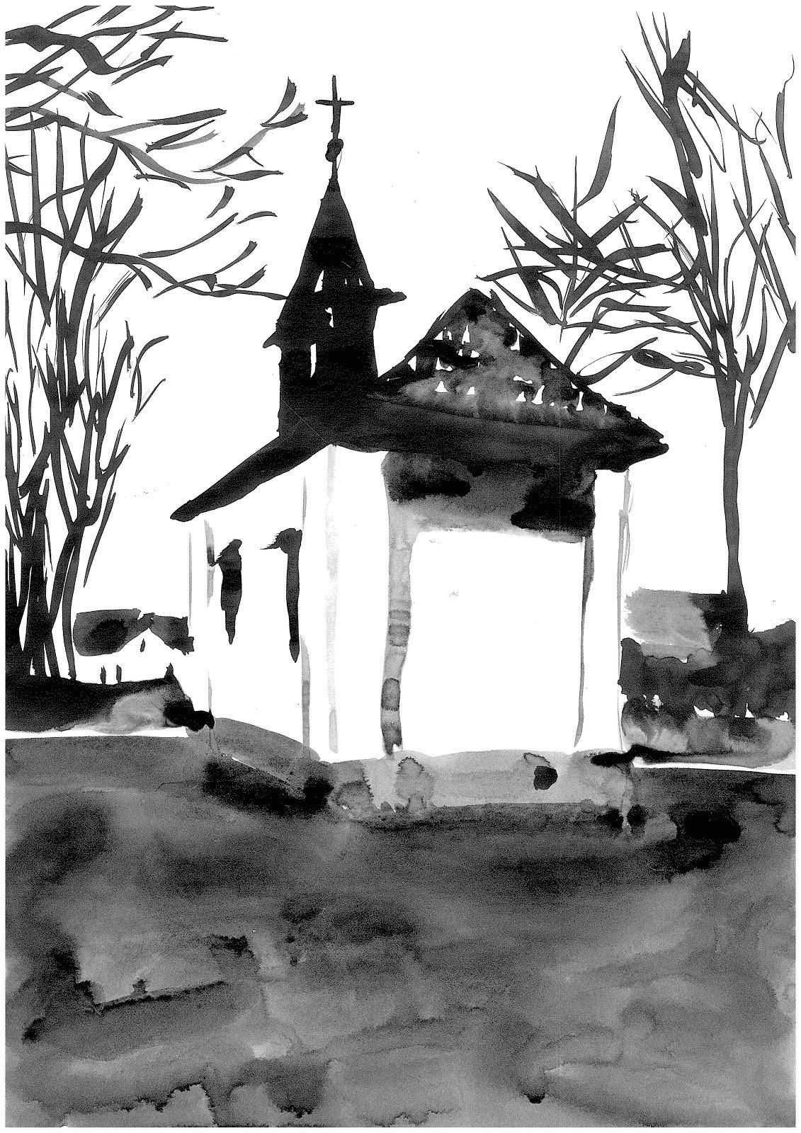 Alte Kirche an der B1