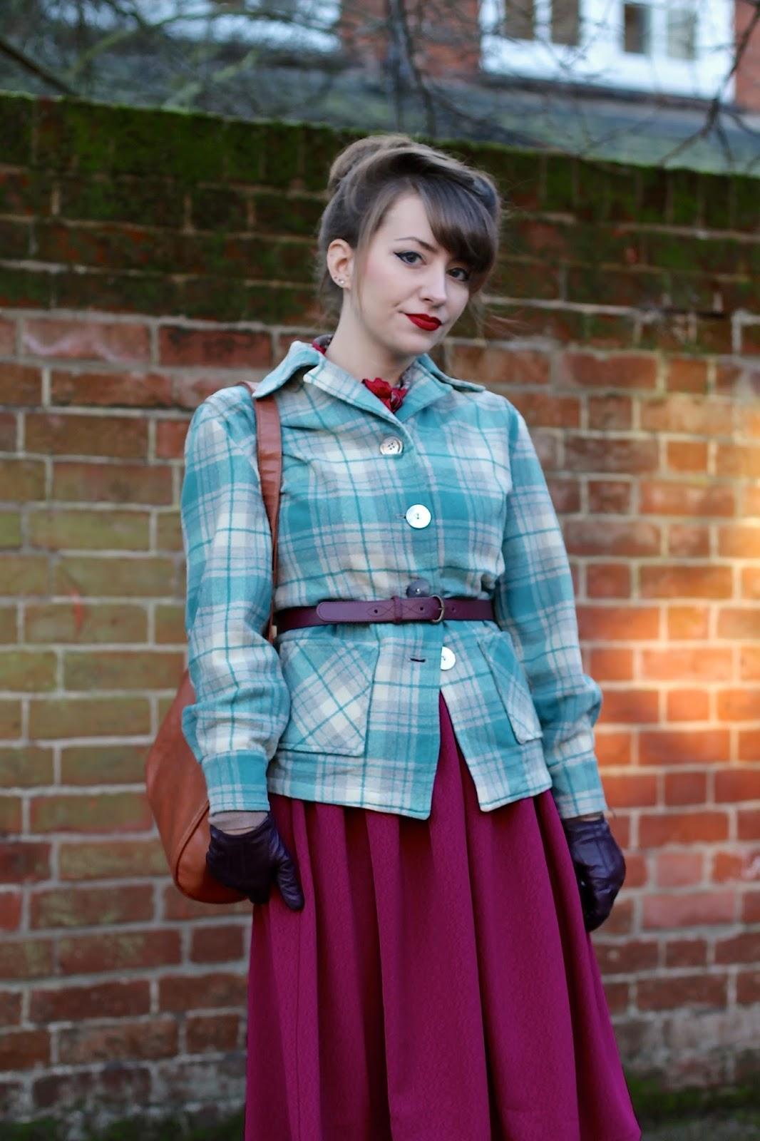 Pendleton 49er style jacket - vintage style outfit