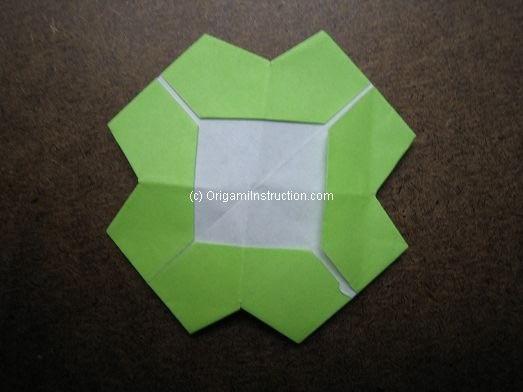 Origami flower coaster instructions