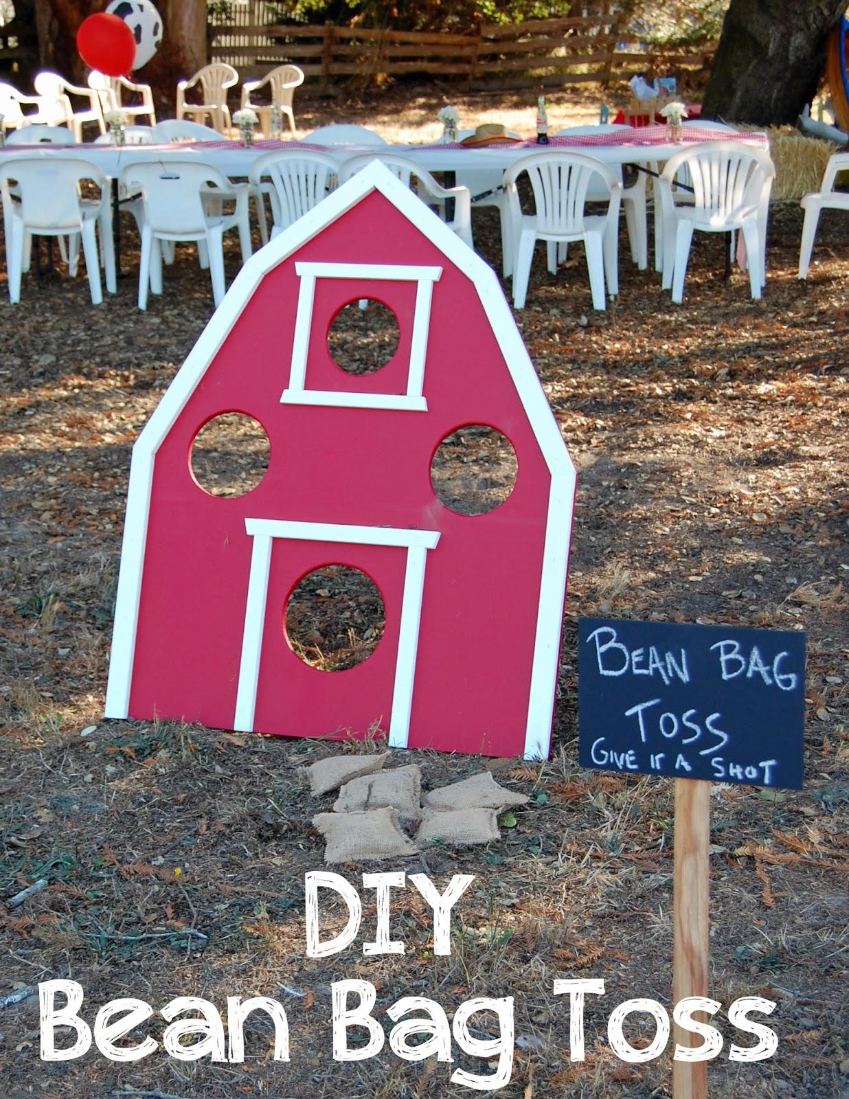 Pinkie for pink diy bean bag toss for Bag decoration games