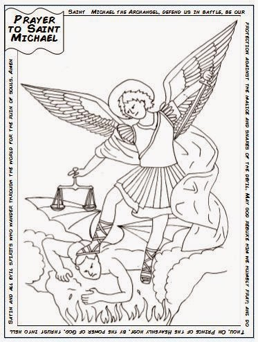 Saint michael coloring pages for St michael coloring page