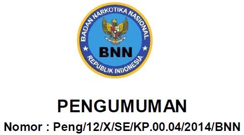Hasil Verifikasi Administrasi CPNS 2014 Badan Narkotika Nasional (CPNS BNN)